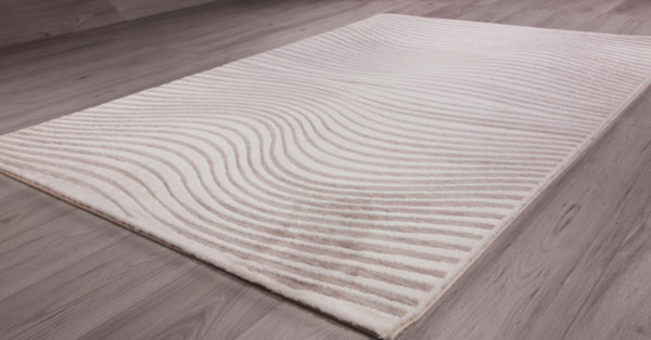 килим талас 0301 карамел/бял